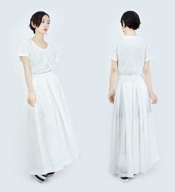 【16SS】HELMAPH&RODITUS(ヘルマフ&ロディタス) feel like taking a long walk skirt