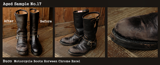 Buco Motorcycle Boots Horween Chrome Excel  ブコ エンジニアブーツ ホーウィン クロムエクセル エイジング スターディ横浜