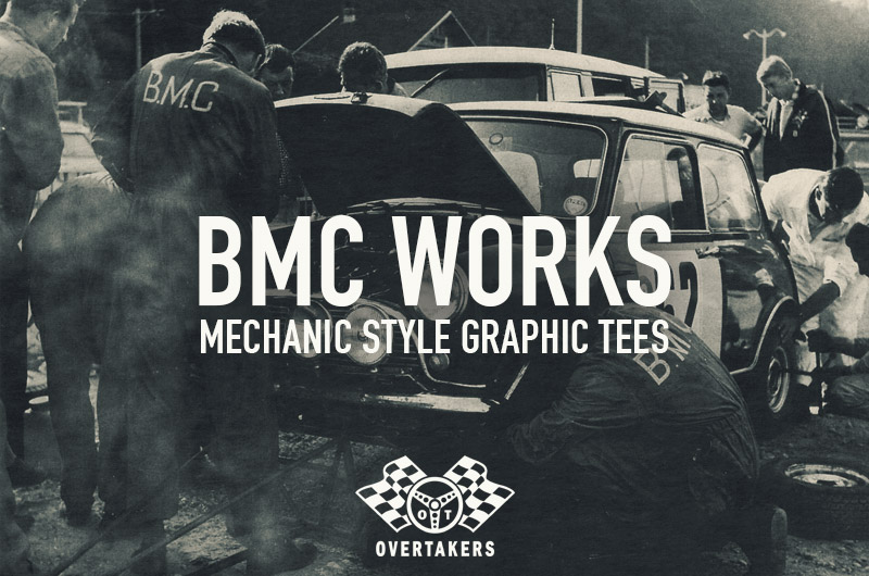 overtakers bmc works t-shirts