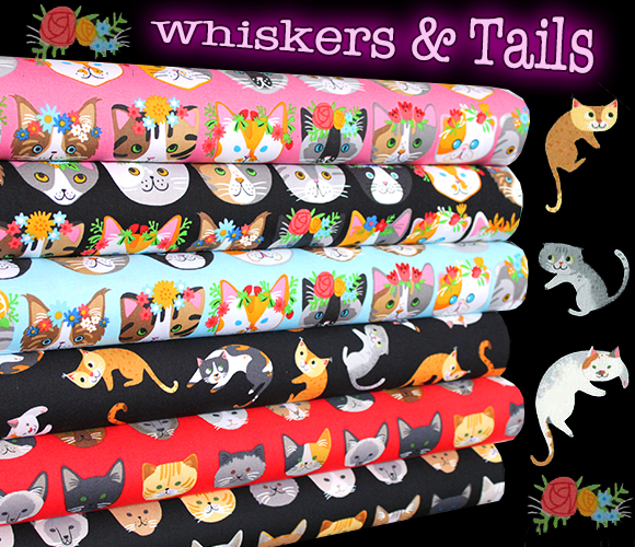 Robert Kaufman Whiskers & Tails Collection by Neiko Ng