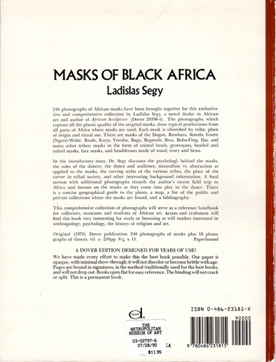 MASK OF BLACK AFRICA(Ladislas Segy) ン・マ