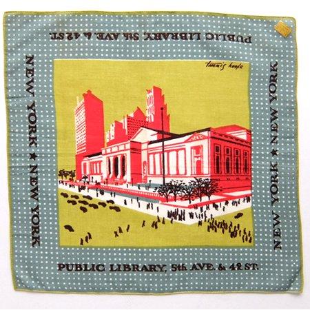 Tammis Keefe NY Public Library Vintage Hanky