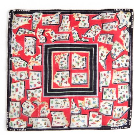 Pageant of the States Vintage Hanky