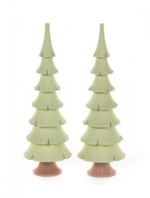 マット調 「薄く明るい緑色のもみの木」( 11cmH ・ 14.5cmH)