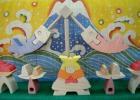 「円武者三段飾り」(特製垂幕:富士)