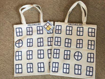 Tote bag, small 「ウインドウ・白」