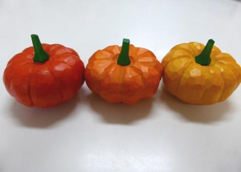 手彫り 「かぼちゃ」(黄のみ)