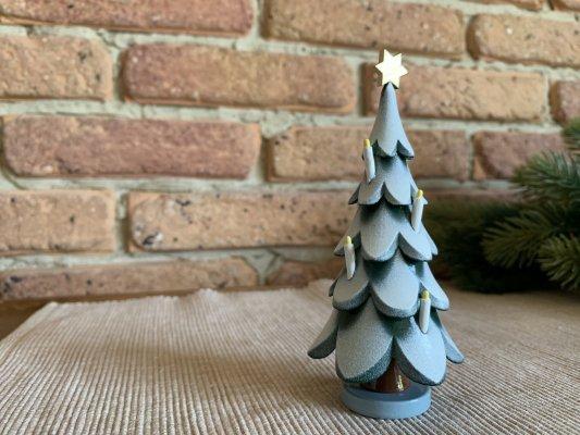 クリスマスツリー星とキャンドル付き ( 12cmH )