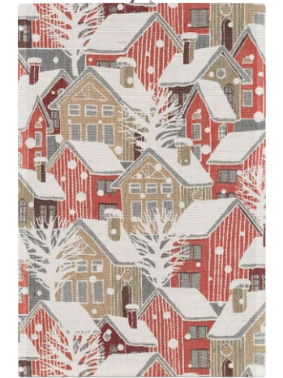 「Snoestad 雪の街」40x60cm