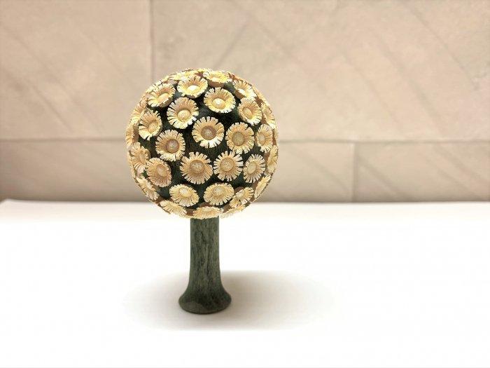 FLADE「丸い花の木・黄色」 8.5cmH