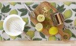テーブルランナー「Citroner: レモン」 (35x80cm)