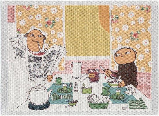 Alfons  「frukost : 朝食」 35x48cm