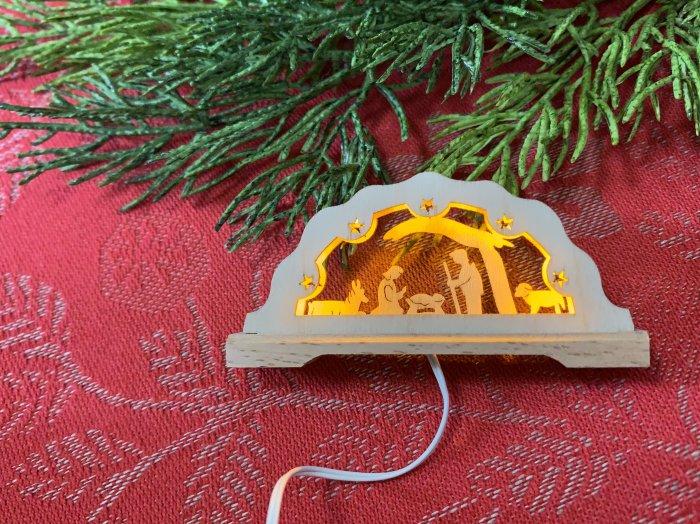 「クリスマスマーケットブース」用 E mini アーチ「聖誕」 3cmH