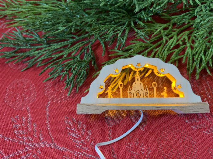 「クリスマスマーケットブース」用 E mini アーチ「フラウエン教会」 3cmH