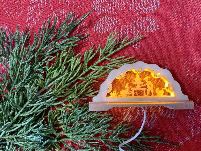 「クリスマスマーケットブース」用 E mini アーチ「サンタ工房」 3cmH