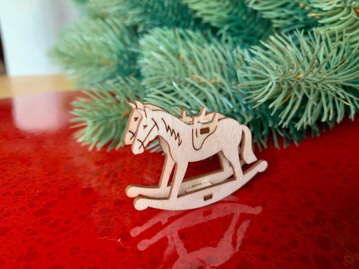 クリスマスマーケットブース・ディスプレイ「木馬」