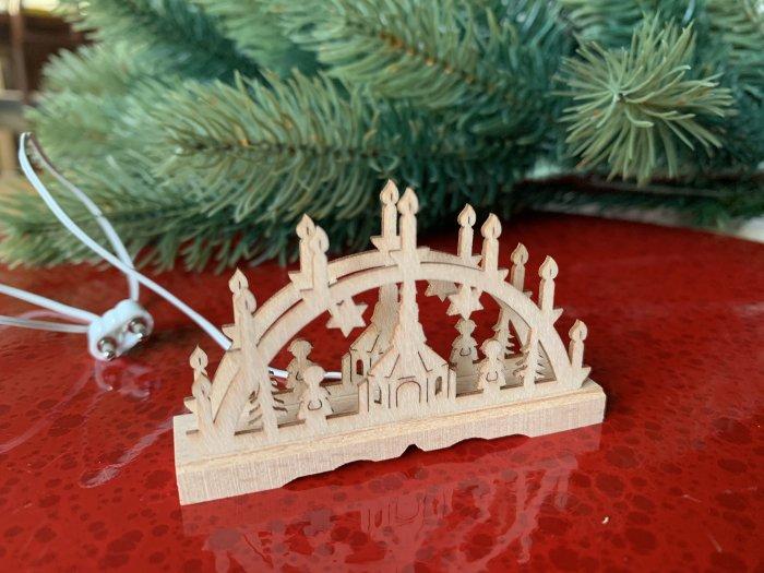 「クリスマスマーケットブース」用 E mini キャンドルアーチW「ザイフェン教会」5cmH