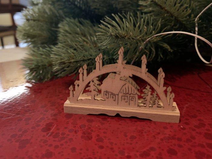 「クリスマスマーケットブース」用 E mini キャンドルアーチW「家」5cmH