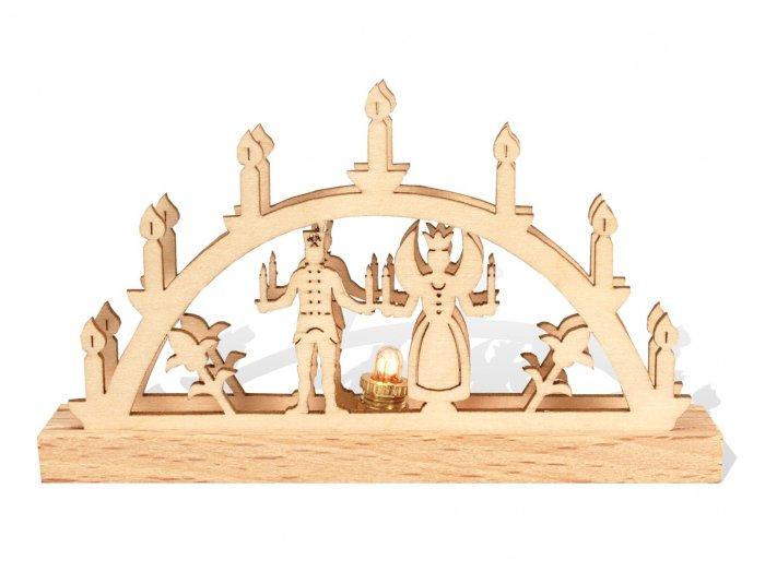 「クリスマスマーケットブース」用 E mini キャンドルアーチW「天使と坑夫」5cmH
