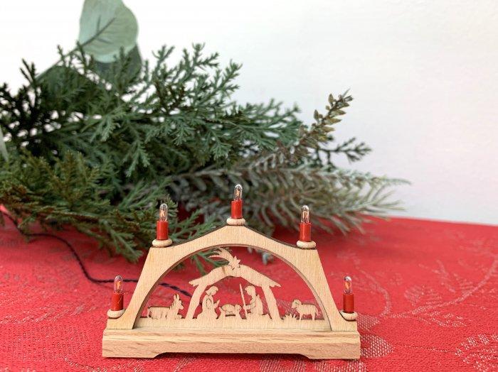 「クリスマスマーケットブース」用 E-red candle アーチ「聖誕」 5cmH<img class='new_mark_img2' src='https://img.shop-pro.jp/img/new/icons50.gif' style='border:none;display:inline;margin:0px;padding:0px;width:auto;' />