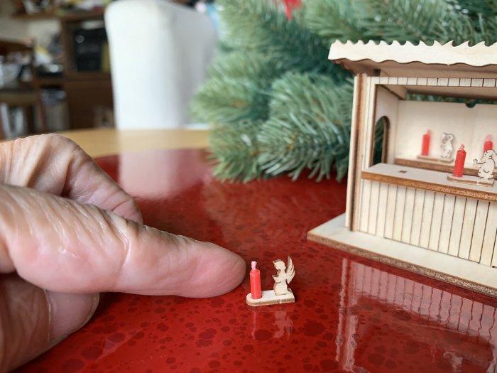 「クリスマスマーケットブース」用 超ミニキャンドルホルダー「天使」1cmH