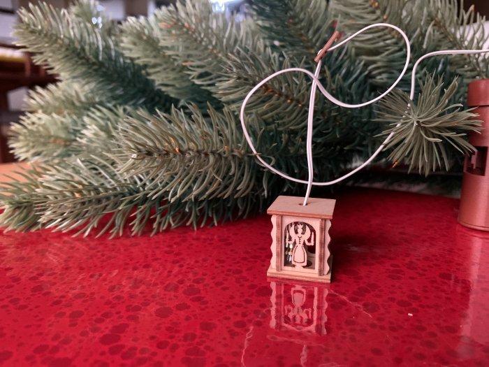 「クリスマスマーケットブース」用 ミニE-ランタン「天使と鉱夫」