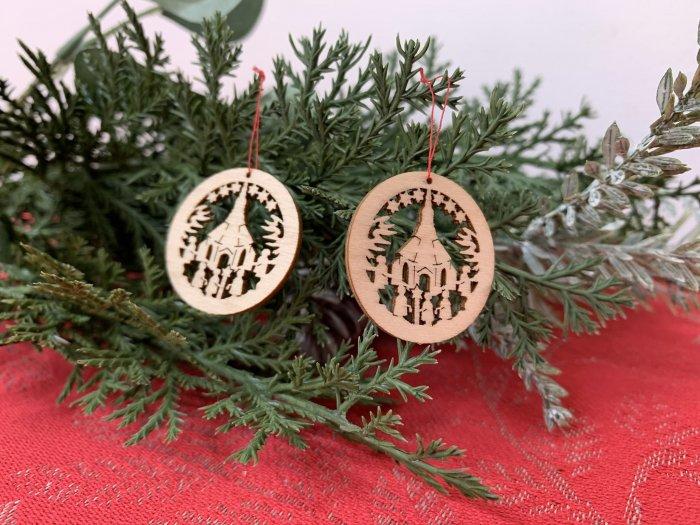 「クリスマスマーケットブース」用 ミニ窓辺飾り「教会」