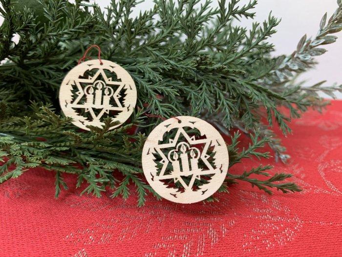 「クリスマスマーケットブース」用 ミニ窓辺飾り「キャンドル」