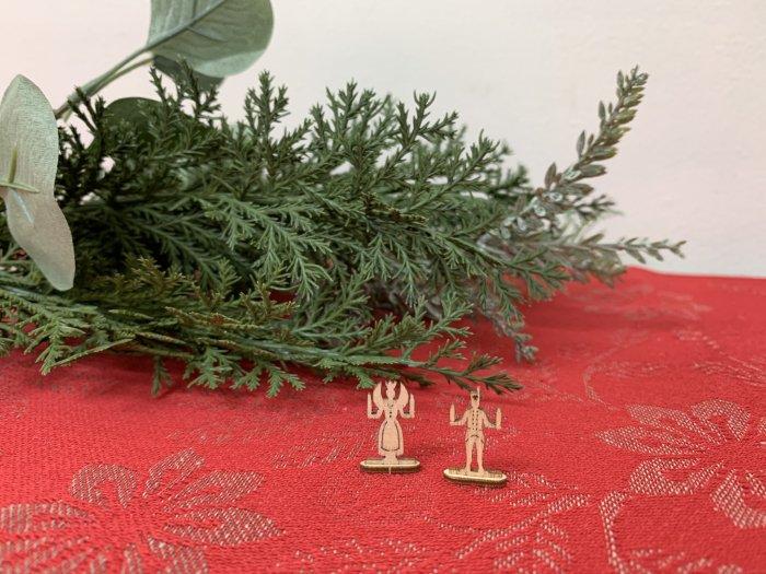 「クリスマスマーケットブース」用 超ミニキャンドルホルダー「天使と鉱夫」