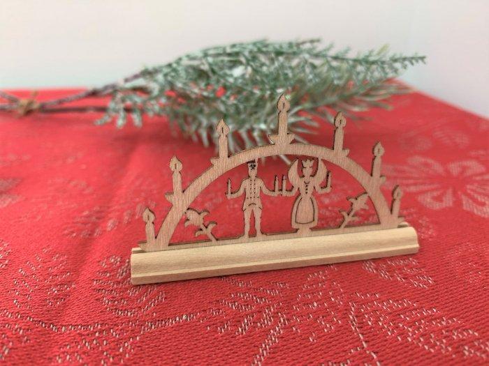 「クリスマスマーケットブース」用 ミニアーチ「天使と鉱夫」