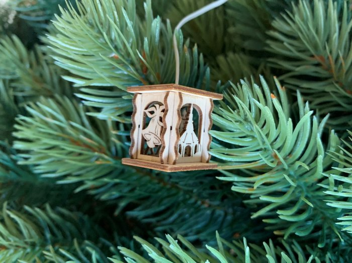 「クリスマスマーケットブース」用 ミニE-ランタン「教会」