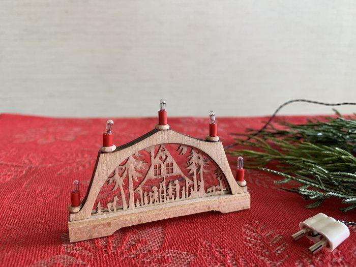 「クリスマスマーケットブース」用 E-red candle アーチ「森の家」5cmH<img class='new_mark_img2' src='https://img.shop-pro.jp/img/new/icons50.gif' style='border:none;display:inline;margin:0px;padding:0px;width:auto;' />