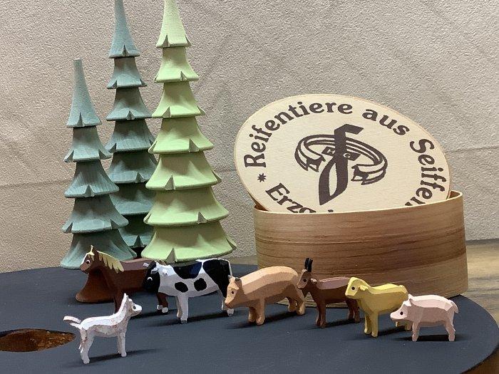 ミニチュア(ワッパ入り)「牧場の動物たち6種」