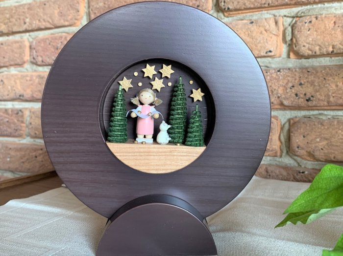 FLADE フレーム「グリム童話『星の金貨』」濃茶(台座付)