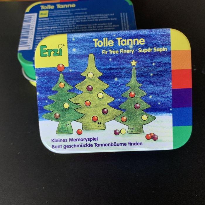 Erzi 缶入り「素敵なモミの木:小さなメモリーゲーム」