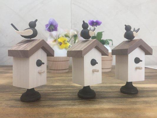 バードコール「鳥小屋」(白木)