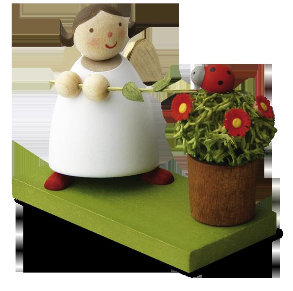 GR 「花鉢のてんとう虫と遊ぶ」