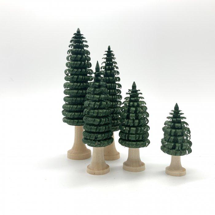 ロールバウム(削り木)5本セット(緑)