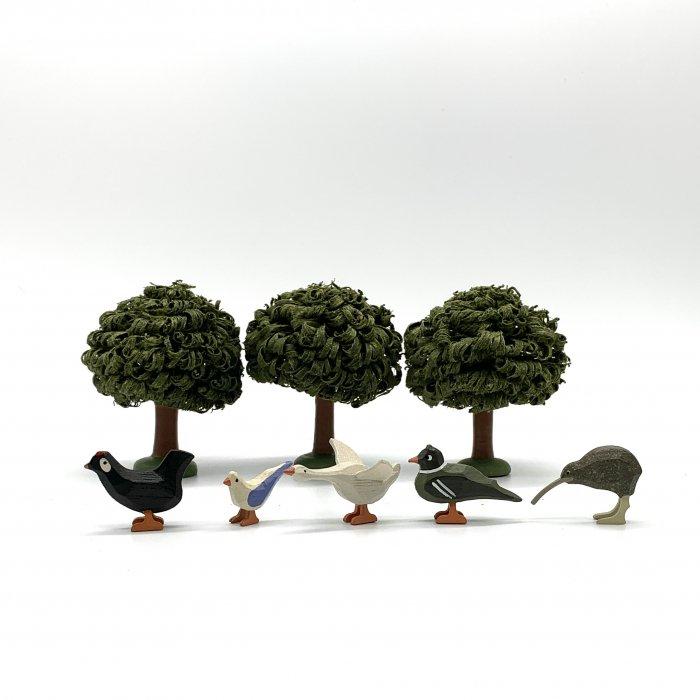 WERNER「小鳥たち」(にわとり黒・はと・アヒル・かも・キウイ)
