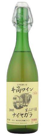 井筒ワイン にごり 無添加生 ナイヤガラ 白 720ml
