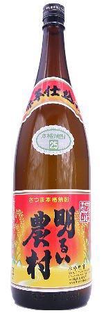 芋焼酎 明るい農村 赤芋仕込み 25度 1800ml