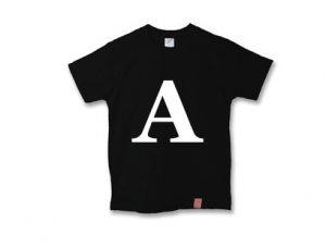 アルファベット 英文字 「 A 」 Tシャツ