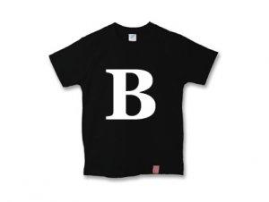 アルファベット 英文字 「 B 」 Tシャツ