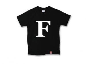 アルファベット 英文字 「 F 」 Tシャツ
