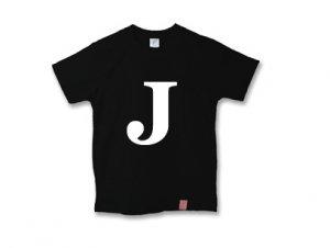 アルファベット 英文字 「 J 」 Tシャツ