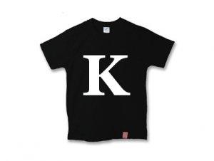 アルファベット 英文字 「 K 」 Tシャツ