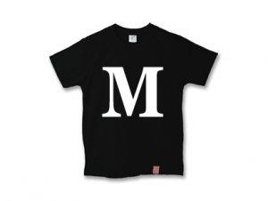 アルファベット 英文字 「 M 」 Tシャツ