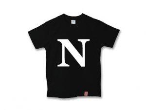 アルファベット 英文字 「 N 」 Tシャツ
