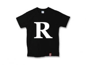 アルファベット 英文字 「 R 」 Tシャツ