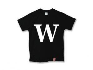 アルファベット 英文字 「 W 」 Tシャツ